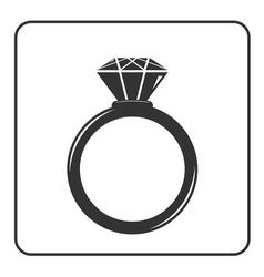 Diamond engagement ring icon 8 vector