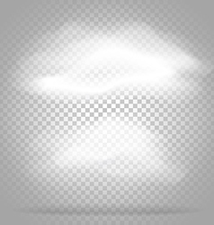 Different white clouds set on transparent vector image