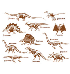 Dinosaurs decorative icons set vector