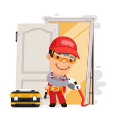 Dismantling the Old Door vector image