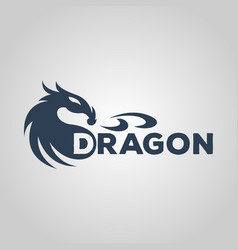 Dragon logo design template vector