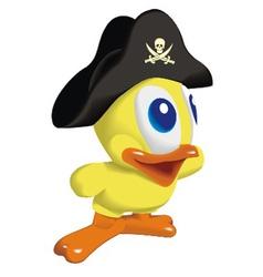 Duck pirat vector