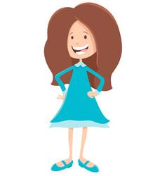 Elementary or teen age girl cartoon character vector