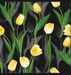 flower seamless background flower tulips over vector image