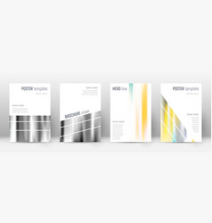 Flyer layout geometric indelible template for bro vector