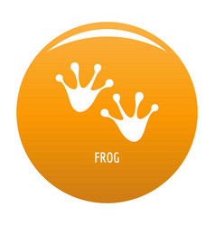 Frog step icon orange vector