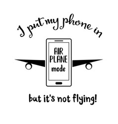 Funny quote about smartphone vector