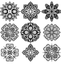 geometric ornaments set vector image