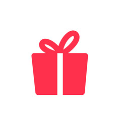 gift icon solid logo download vector image