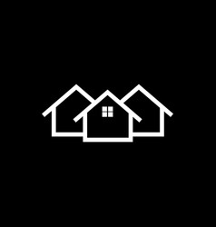 home icon house flat vector image
