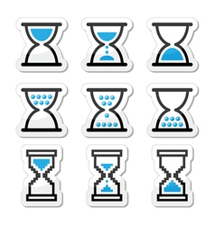 Hourglass sandglass icon set vector image