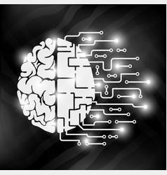 human brain is abstract human hemisphere and vector image
