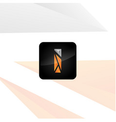 i logo for mobile app vector image