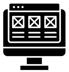 Interface telecommuting or remote work icon vector