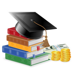 Investment in education concept vector