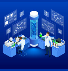 isometric concept laboratory exploring new vector image