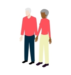 Isometric old international couple vector