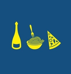Italian food icons vector image