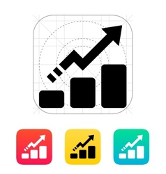 Line chart up icon vector