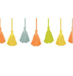 Long hanging decorative tassels set vector