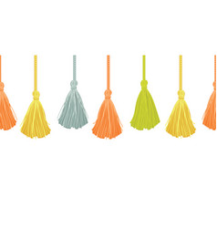 long hanging decorative tassels set with vector image
