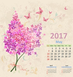 Lovely bouquet of Lilac on grunge background vector