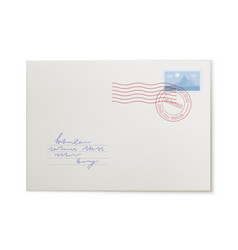 mail envelope front view isolated vector image