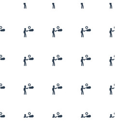 man icon pattern seamless white background vector image