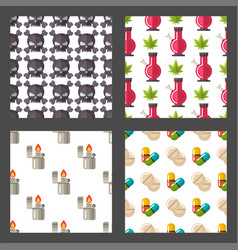 medical drugs icon seamless pattern background vector image