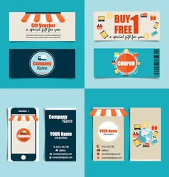 Modern business card template with Business vector image