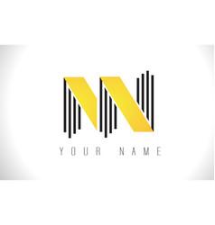 nn black lines letter logo creative line letters vector image
