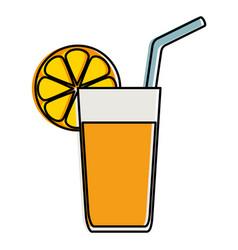 orange juice fruit icon vector image