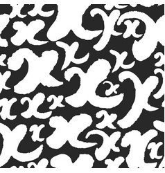 Pattern with calligraphy letters x vector