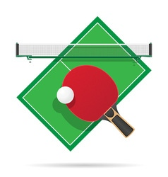 ping pong table vector image