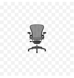realistic office chair element vector image