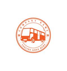 retro vintage bus car transport transportation vector image