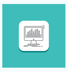 Round button for analytics processing dashboard vector
