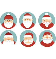 santa claus characters vector image