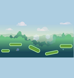 seamless cartoon nature landscape with different vector image