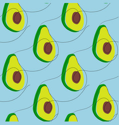Seamless pattern with abstract avocado vector
