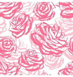 Seamless pattern with pink roses Fashion natural vector