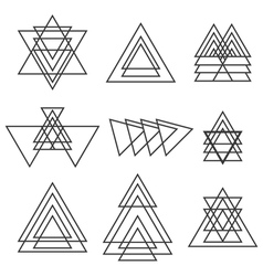 Set of geometric shapes Trendy geometric icons vector image