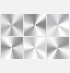 Set of silvery conic gradients vector