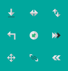 set of simple pointer icons elements indicator vector image vector image