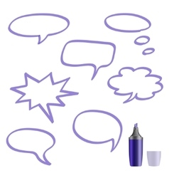 Set of speech bubbles on white background vector