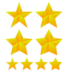 set of star shapes with different thickness vector image