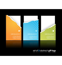 Set of teared gift cards vector image