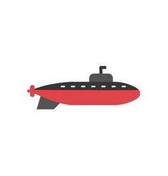 submarine graphic design template isolated vector image