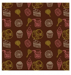 Sweet seamless pattern vector