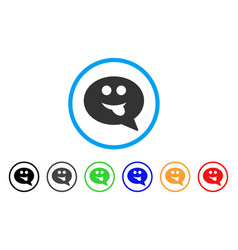 tongue smiley message icon vector image